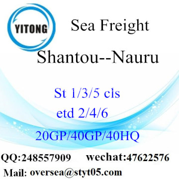 Shantou Port Sea Freight Shipping To Nauru