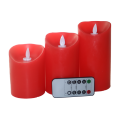 Machine Make White Flameless Scented Candle