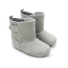 China for Baby Boots Moccasins Soft Rubber Sole Cotton Baby Winter Boots export to Portugal Factory