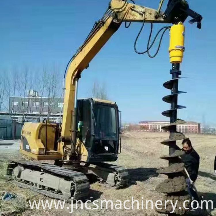 Spiral hydraulic drilling machine