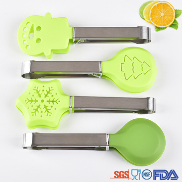 Good Quality for Nylon Salad Tong Funny design Christmas tree snow shape Nylon tongs export to Netherlands Suppliers