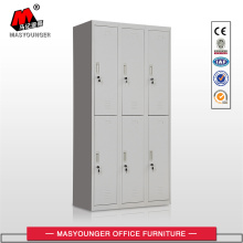 Grey 6 Doors Metal Lockers