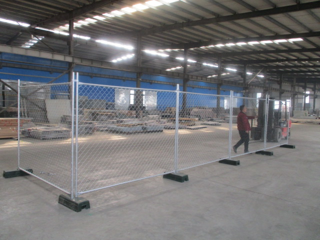 Galvanized chain link Australia temporary fence