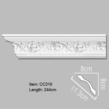 Supply for Polyurethane Carved Cornice Mouldings Pu Foam Decorative Cornice Moulding supply to France Importers
