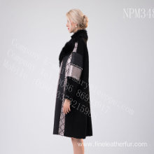 Long Jacket In Merino Shearling For Lady