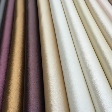 Soft Classical Embossed Lichee PU Leather for Curtain