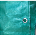 Virgin material Green tarpaulin with reinforced corner