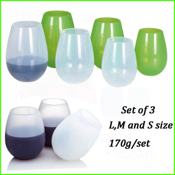 Top for Customized Wine Glasses Silicone Insulated Drink Cups For Kids supply to Virgin Islands (U.S.) Exporter