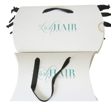 Folding Paper Pillow Hair Packaging with Custom Logo