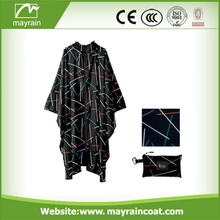 Fashion Long Polyester PVC Adult Rain Poncho