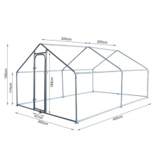 Walk in Metal Chicken Run Coop Enclosure 4Mx3M