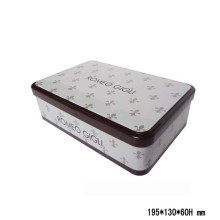 Square Tin Box with Flower Printing Customer Design