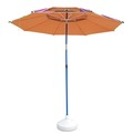 Adjustable tilt mechanism outdoor fishing umbrella
