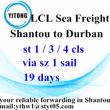 Combined Transport Shipping from Shantou to Durban