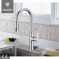 Deck mounted pull out kitchen faucet with sprayer