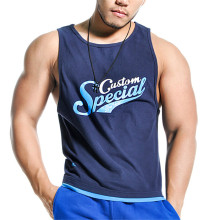 Custom print mens sports modal fabric racerback singlet