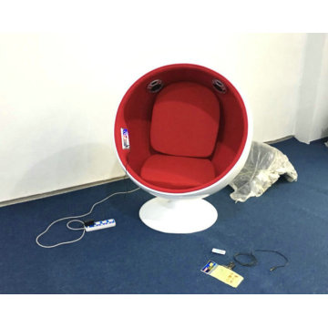 Music ball chair fiberglass ball chair