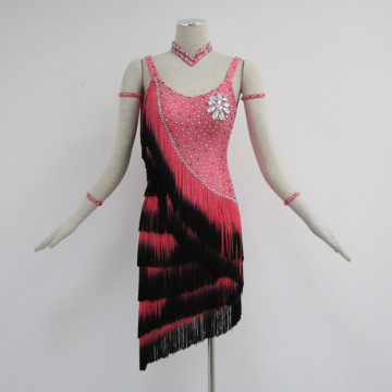 Red latin dance dress