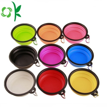 Pet Travel Foldable Food Silicone Dog Water Bowl