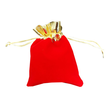 High Quality Velvet Luxurious Jewelry Small Pouch Drawstring Bag