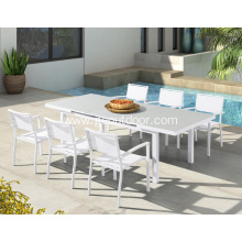 Aluminum Frame Patio Garden Furniture Dining Set