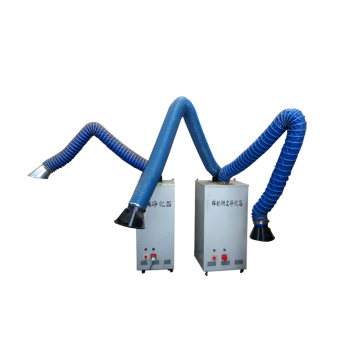 electrostatic mobile filter unit for welding fume