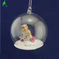 personalized Resin Owl Inner Christmas glass ball ornament