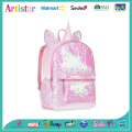 pink unicorn sequin backpack