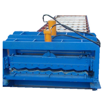 Glazed corrugated metal sheet roll forming machine