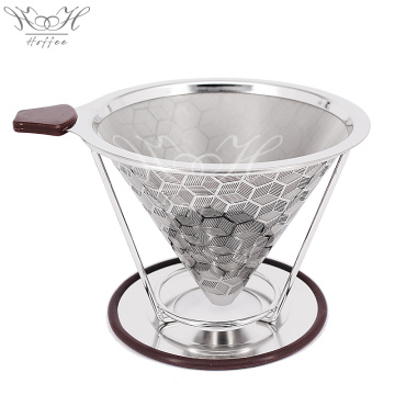 Pour Over Coffee Filter Reusable Cone Filter