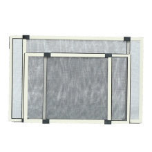 Sliding fly screen window with fiberglass net
