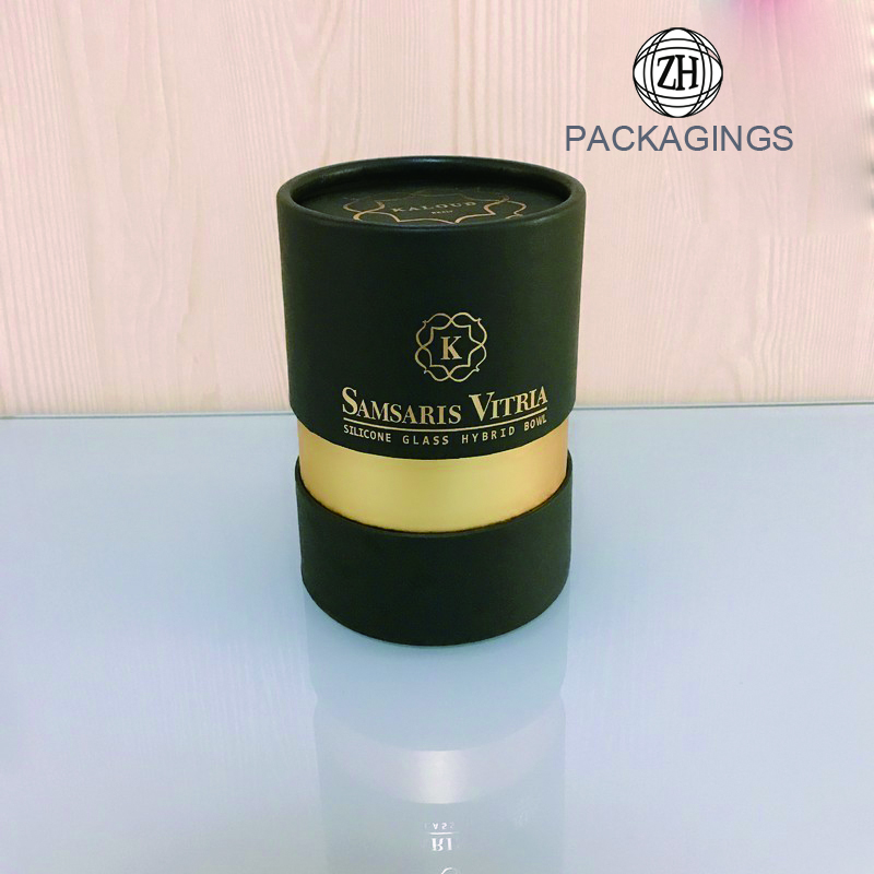 Solid perfume tube packaging with round hat