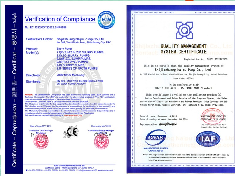 certification of bearing body