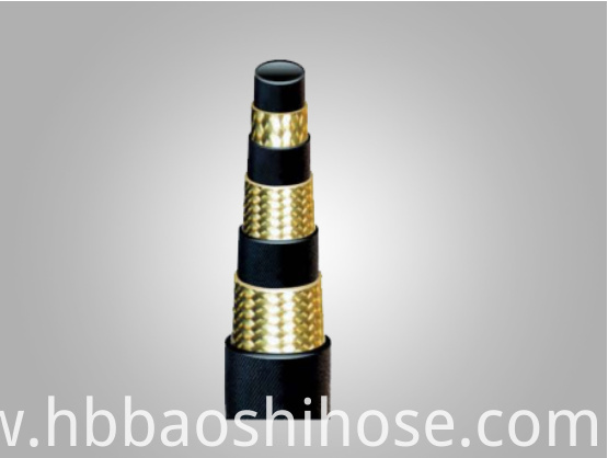 High Pressure Three Steel Wire Braided Reinforcements Rubber Hose