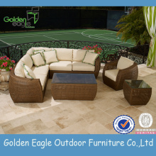 Big Discount for Garden Outdoor Sofa Popular stylish SGS PE garden wicker sofa export to United States Factories
