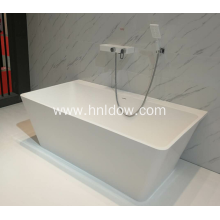 Back to wall pure acrylic PMMA bathtub