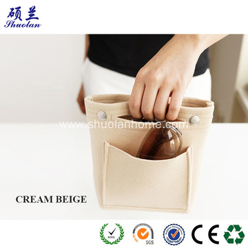 Portable felt clutch bag