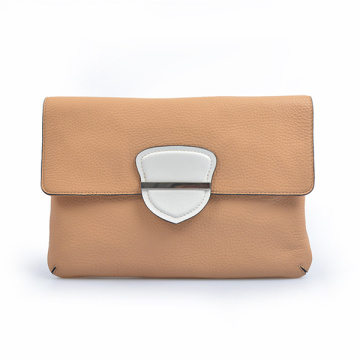 No Handle Briefcase Leather Pouch Fold Over Clutch