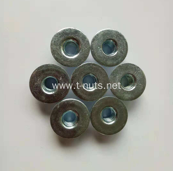 Full threaded zinc plated round base nuts