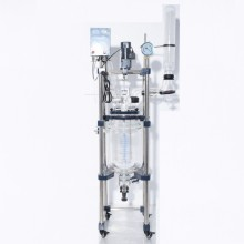 Stainless steel frame chemical vacuum 150l glass reactor