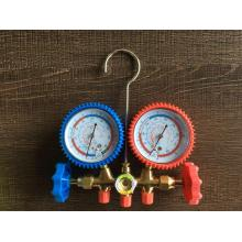 Customized for Ac Manifold Gauges Rubber anti-viberation brass manifold with sight glass export to Saudi Arabia Suppliers