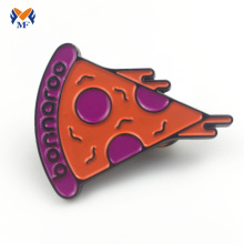 Cheap pizza soft enamel lapel pin badge