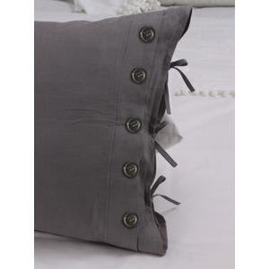 55%Linen45%Cotton Decorative Standard Pillow Case