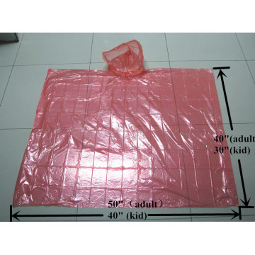 Colorful Disposable LDPE Rain Ponchos