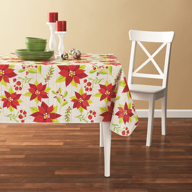 Tablecloth PE with Needle-punched Cotton Flower Square