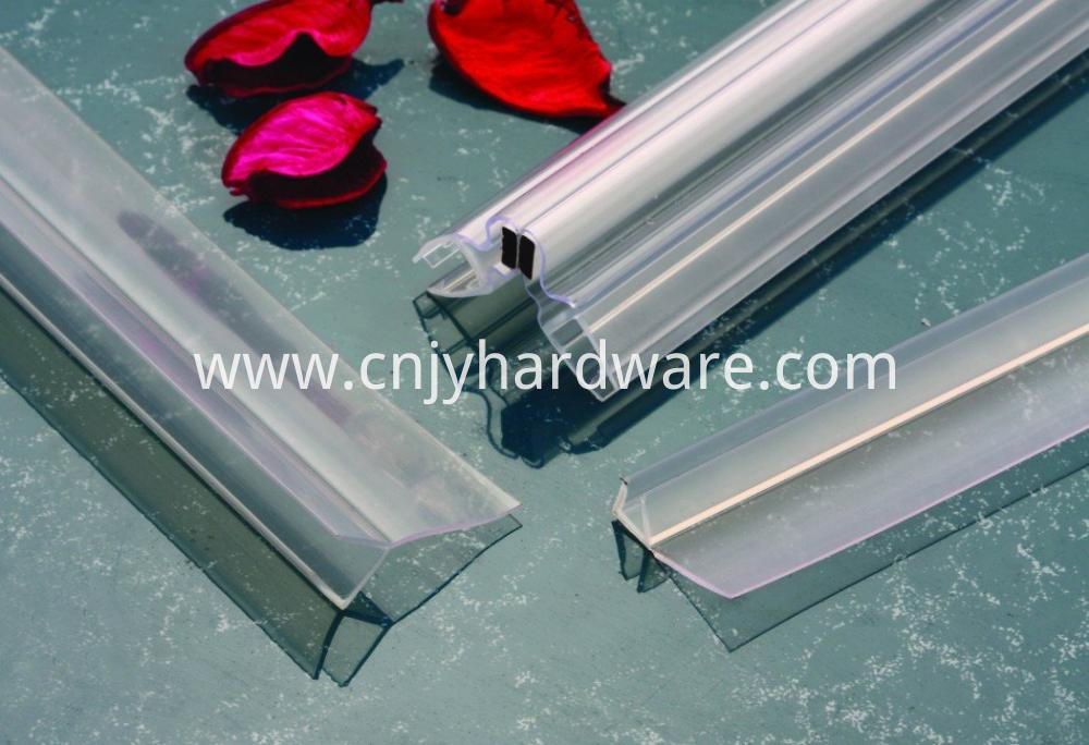 135 Degree PVC shower glass door waterproof stripping