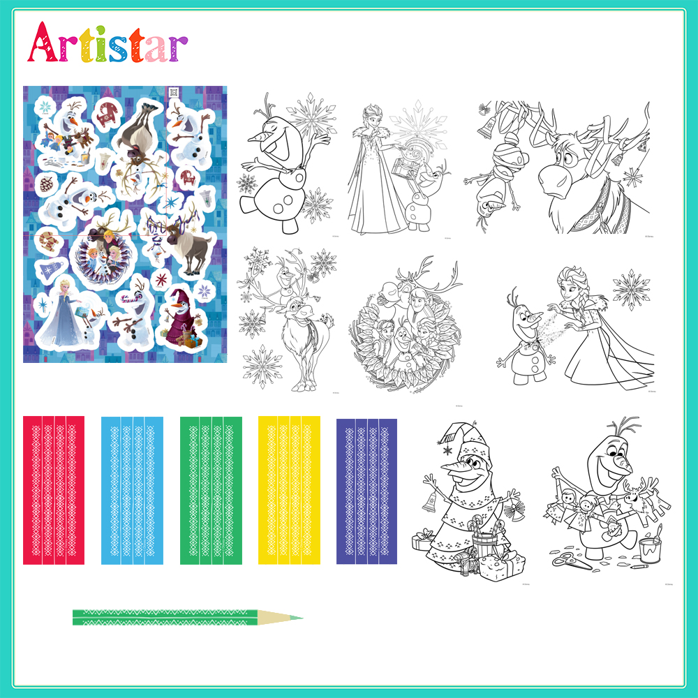Disney Frozen Colouring Set 02