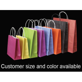 Colors White Kraft Paper Shopping Bag