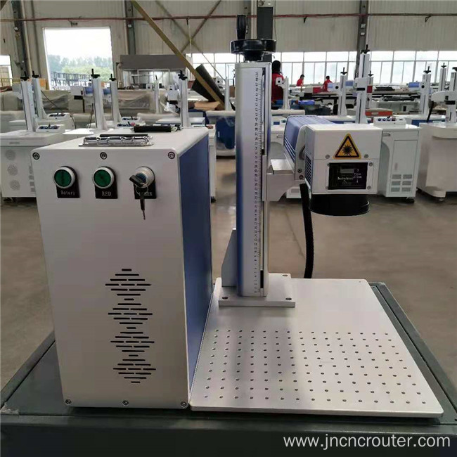 portable fiber laser marking machine with rotary aluminium