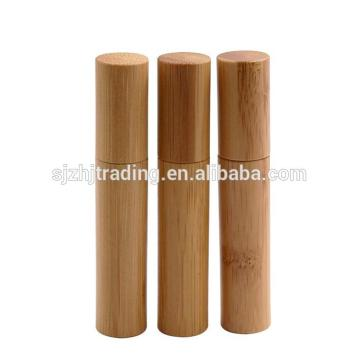 Cosmetic Bottle With Bamboo Spray Or Pump Cap